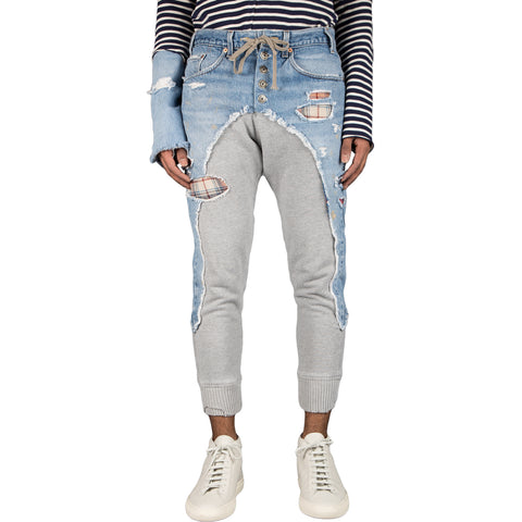 Greg Lauren Vintage Fleece Slim Lounge Pant