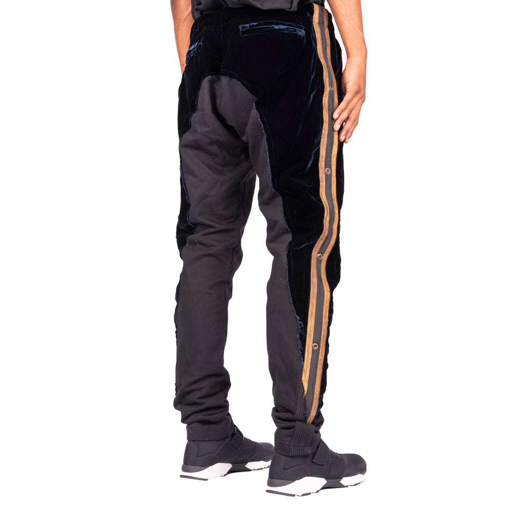 Greg Lauren FW19 Black Velvet Royal Pant, Black