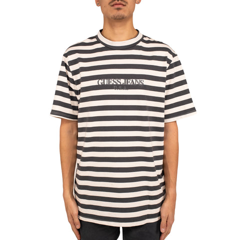 Infinite Archives x Guess Jeans S/S Crew Tee, Mentor Gray/Aspen White