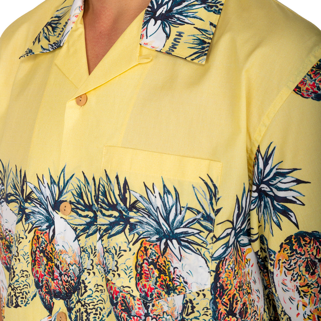 Human Made FW19 Pineapple Aloha Shirt, Yellow