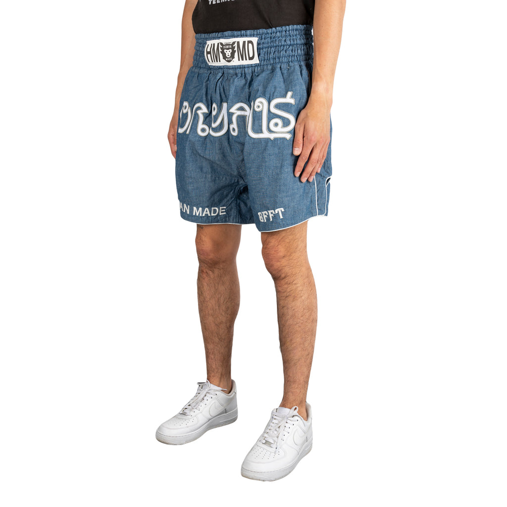 Human Made SS19 Chambray Muay Thai Shorts, Blue