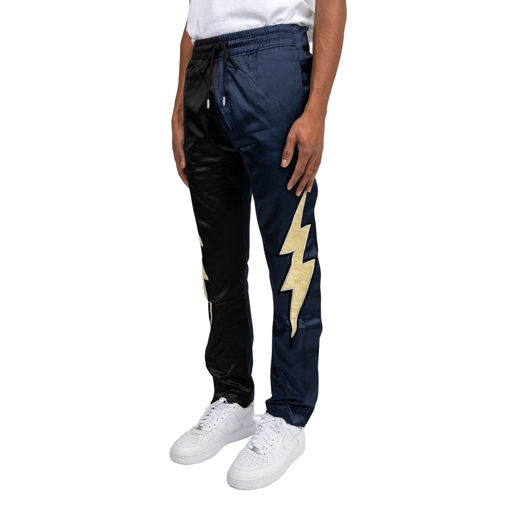 Just Don FW19 Lightning Tearaway Pant, Navy/Black