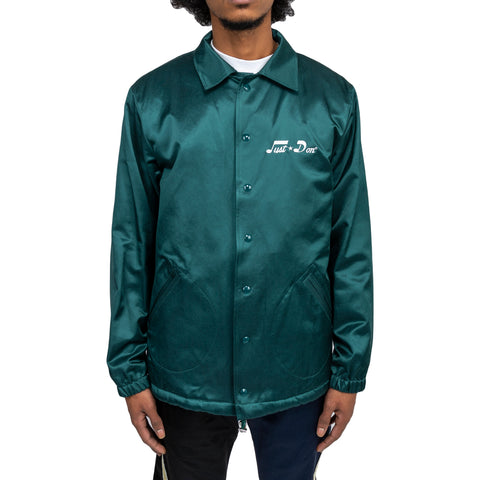 Just Don FW19 Ultrasound Coaches Jacket , Forest Green