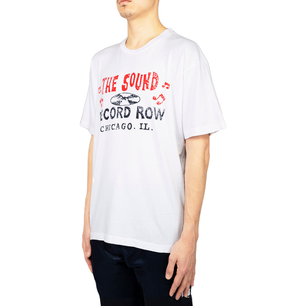 Just Don Record Row S/S Crew Tee, White