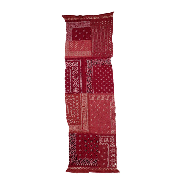 Kapital FW19 Compressed Wool Scarf Bandana Patchwork, Red