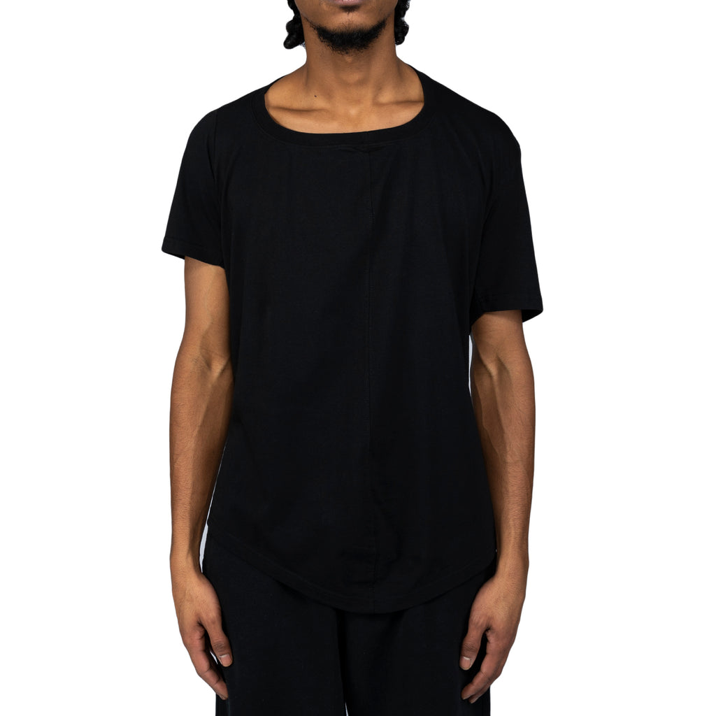 Martine Rose SS20 Front Seam T-Shirt, Black