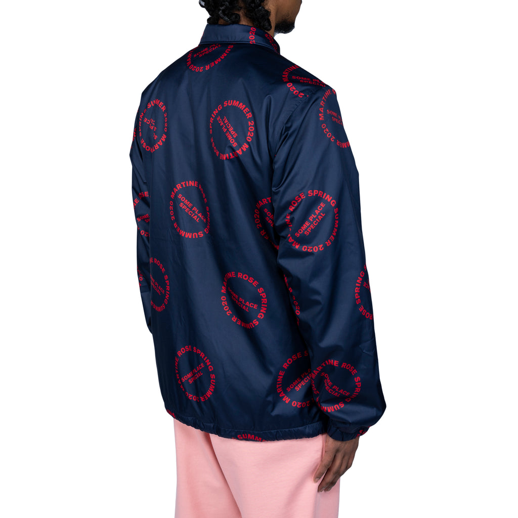 Martine Rose SS20 Coach Jacket, Navy/Red