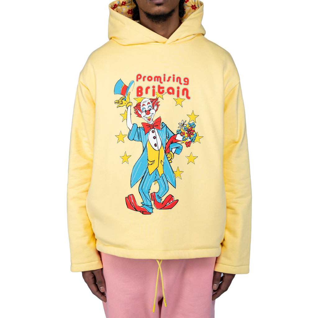 Martine Rose SS20 Clown Artwork Hoodie, Yellow