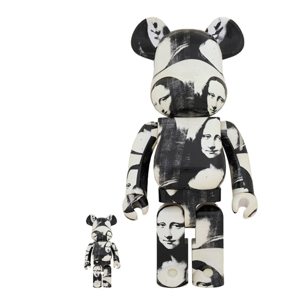 "Medicom Be@rbrick Andy Warhol ""Double Mona Lisa"" Set, Black/White"