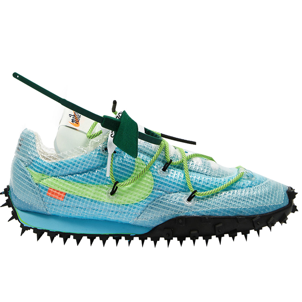 Nike x Off-White Women's Waffle Racer, Vivid Sky/Electric Green-Black