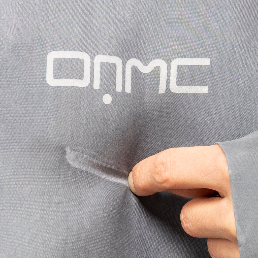 OAMC SS19 Waxed Woven Houston Jacket, Medium Grey