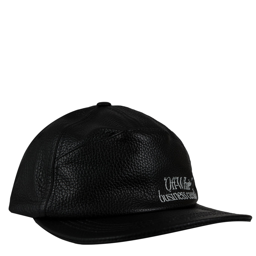 Off-White Leather snap back cap