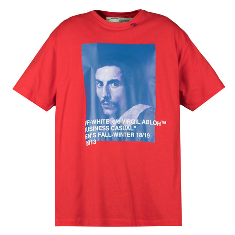 Off White Bernini s/s over tee, Red/Blue