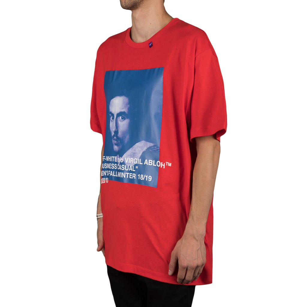 Off-White Bernini s/s over tee, Red/Blue