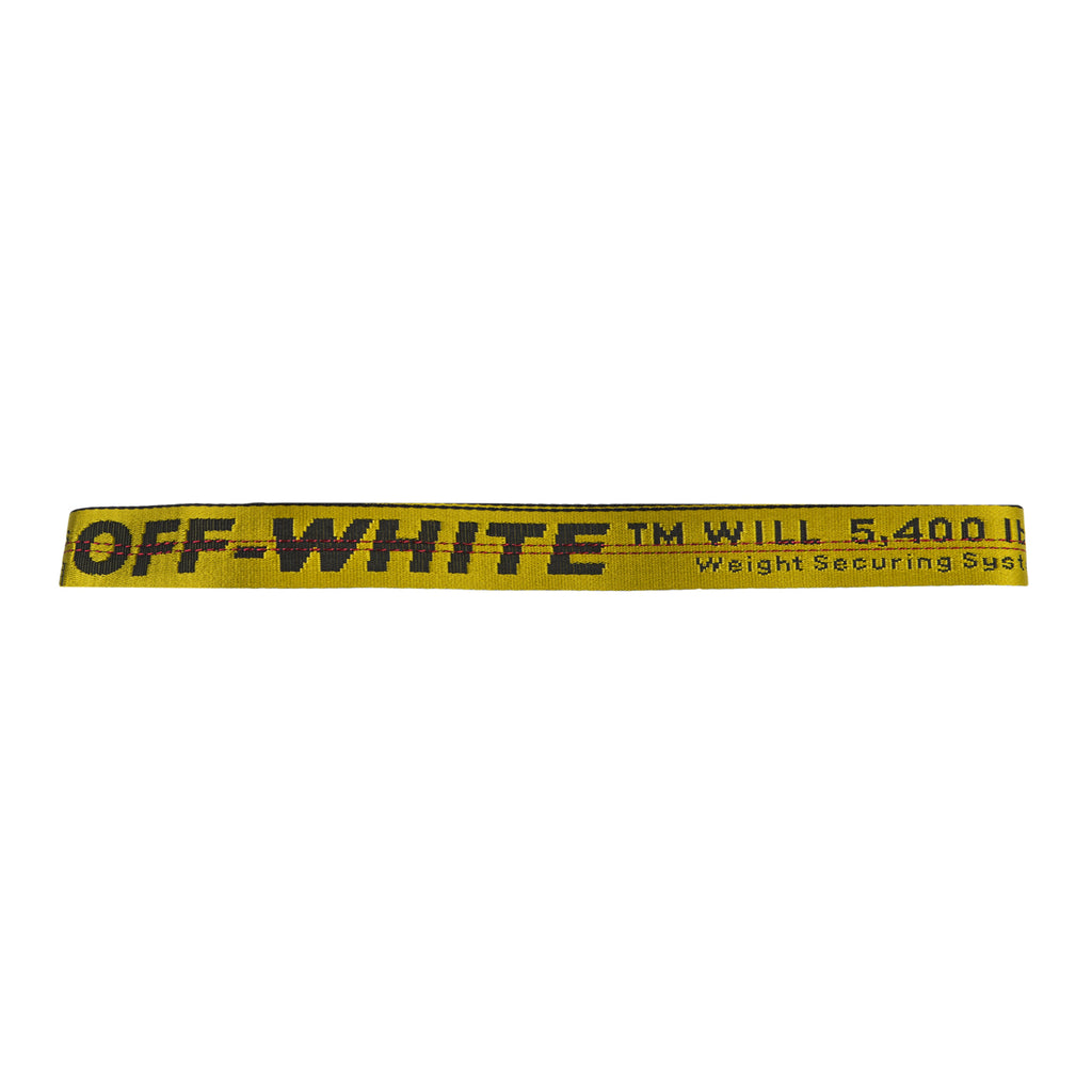 Off-White FW19 Carryover Industrial Belt, Yellow