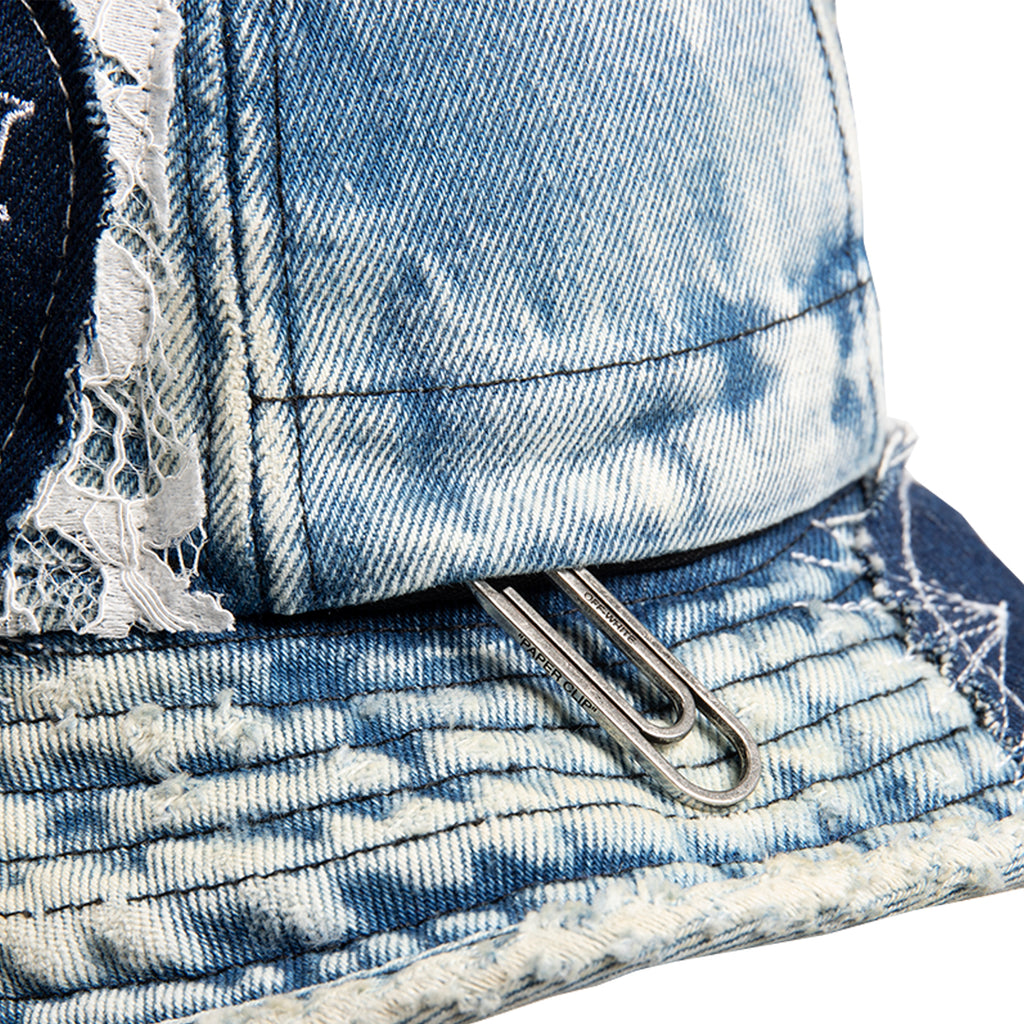 Off-White SS21 EV Denim Pocket Bucket Hat, Blue Metal