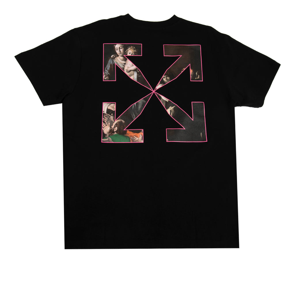 Off-White SS21 Sprayed Caravaggio S/S Over Tee, Black/White