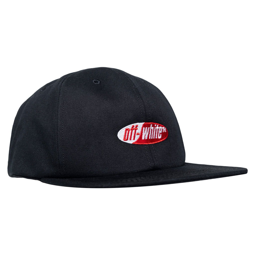 Off-White Split Logo Snapback Cap, Black/Red