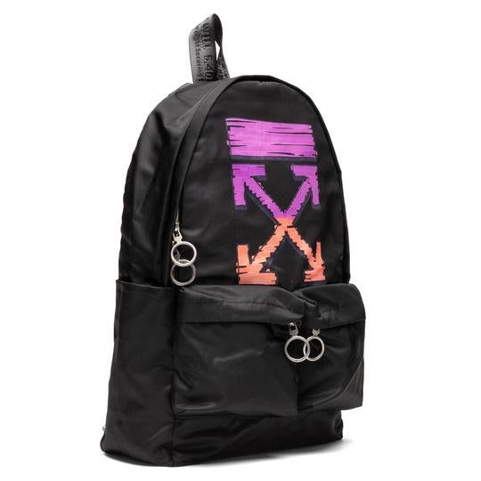 Off-White PS21 Marker Backpack , Black/Fuchsia