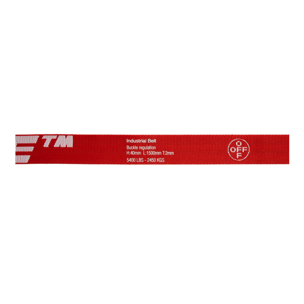 Off-White PS20 2.0 Industrial Belt 40 MM, Red/White