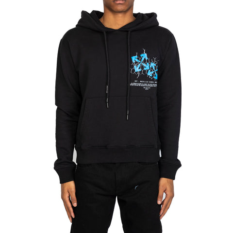 Off-White SS20 Fence Arrow Slim Hoodie, Black/Blue