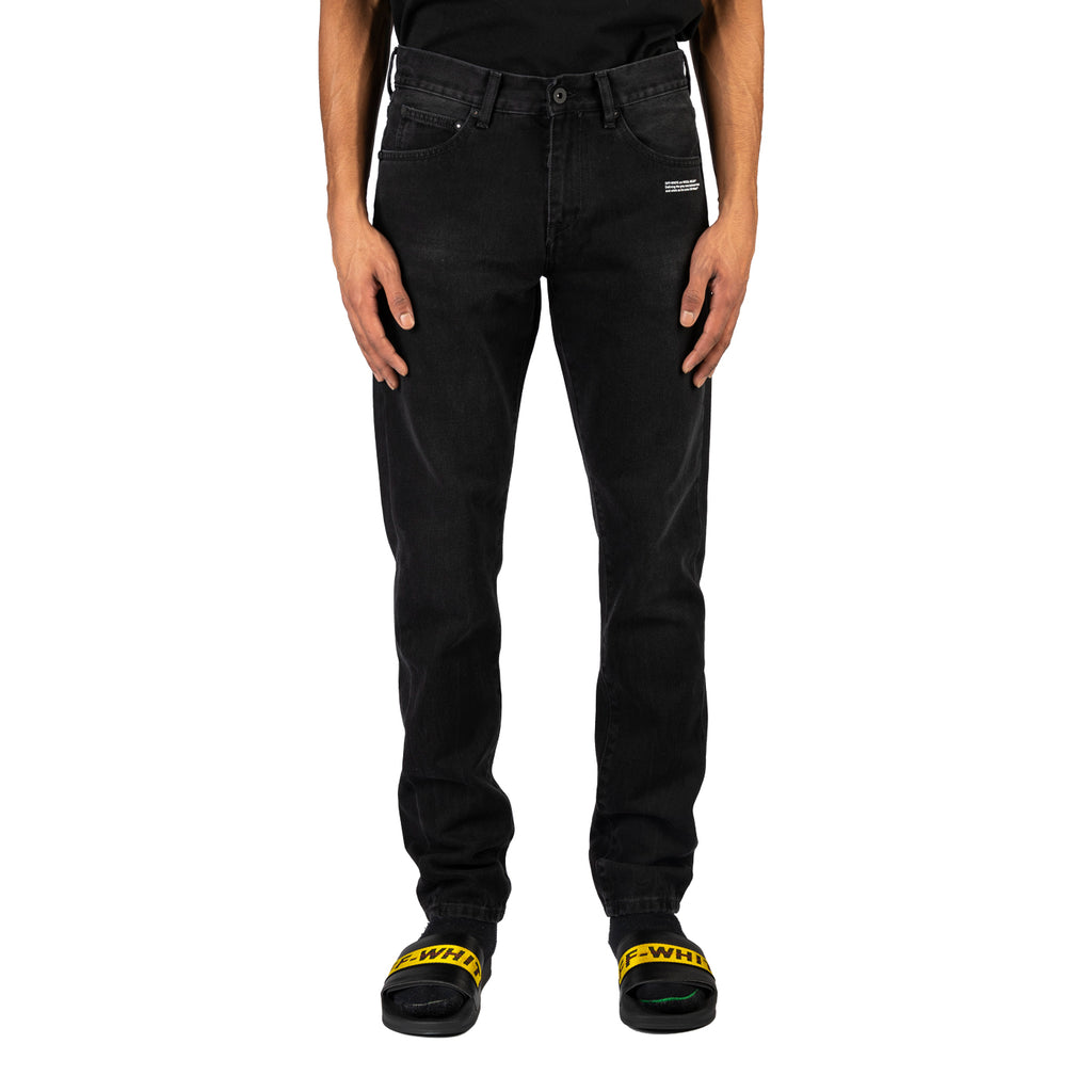 Off-White PS20 Slim Jeans, Black/White