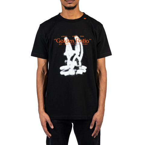 Off-White PS20 Cartoon S/S Slim Tee, Black/White
