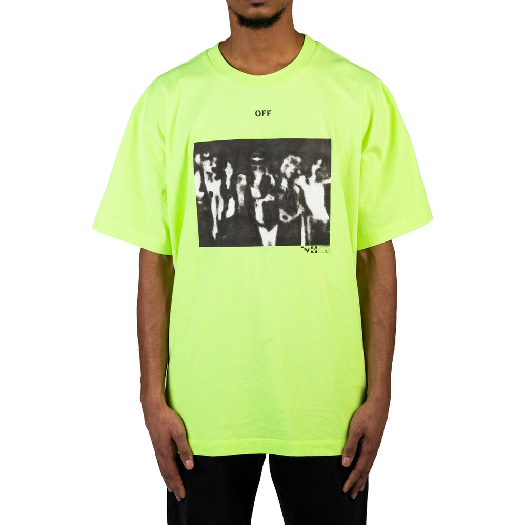 Off-White PS20 Spray Painting S/S Over Tee, Fluo Yellow/Black