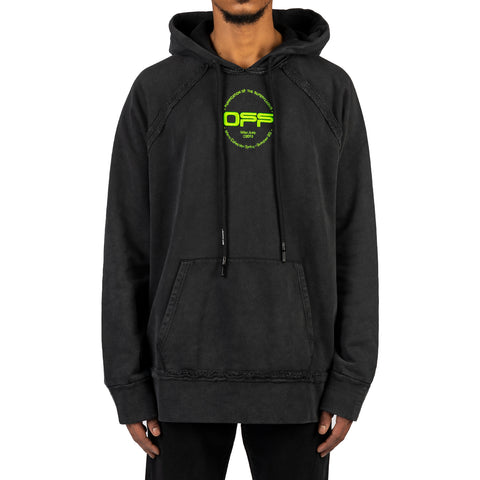 Off-White PS20 Hand Logo Incompiuto Hoodie, Black/Multi