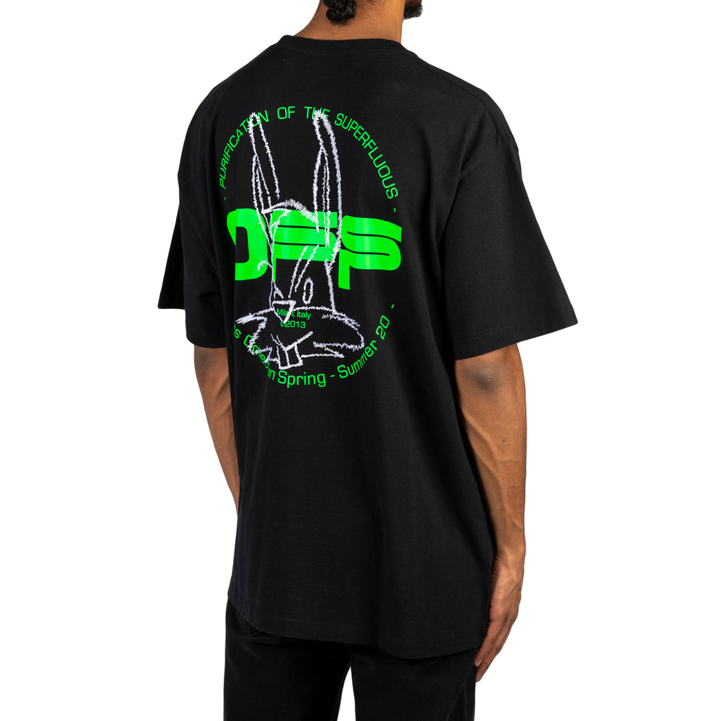 Off-White PS20 Harry The Bunny S/S Over Tee, Black/Brilliant Green