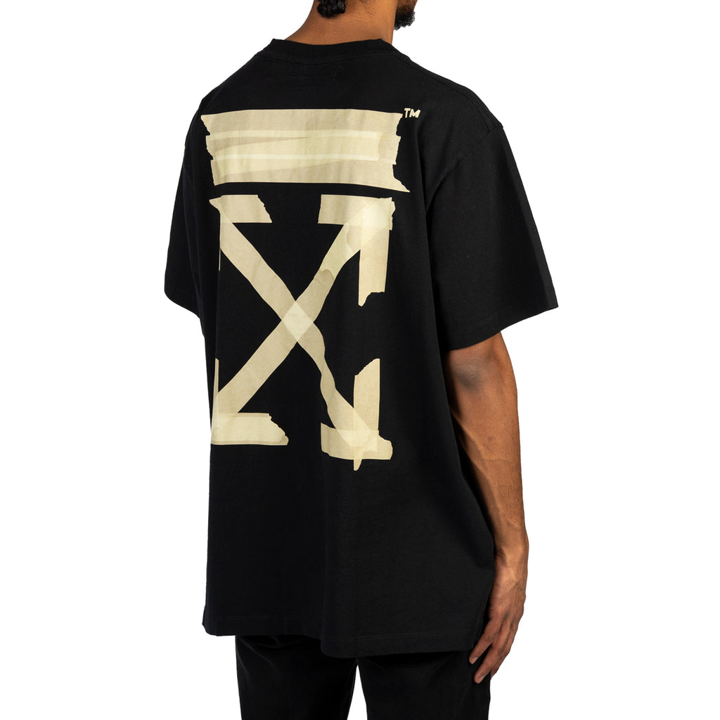 Off-White PS20 Tape Arrows S/S Over Tee, Black/Beige