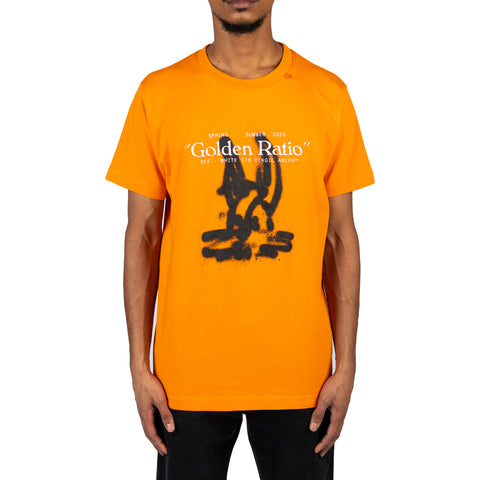 Off-White PS20 Cartoon S/S Slim Tee, Orange/Black