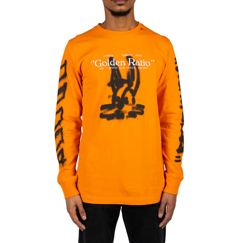 Off-White PS20 Cartoon L/S Tee, Orange/Black