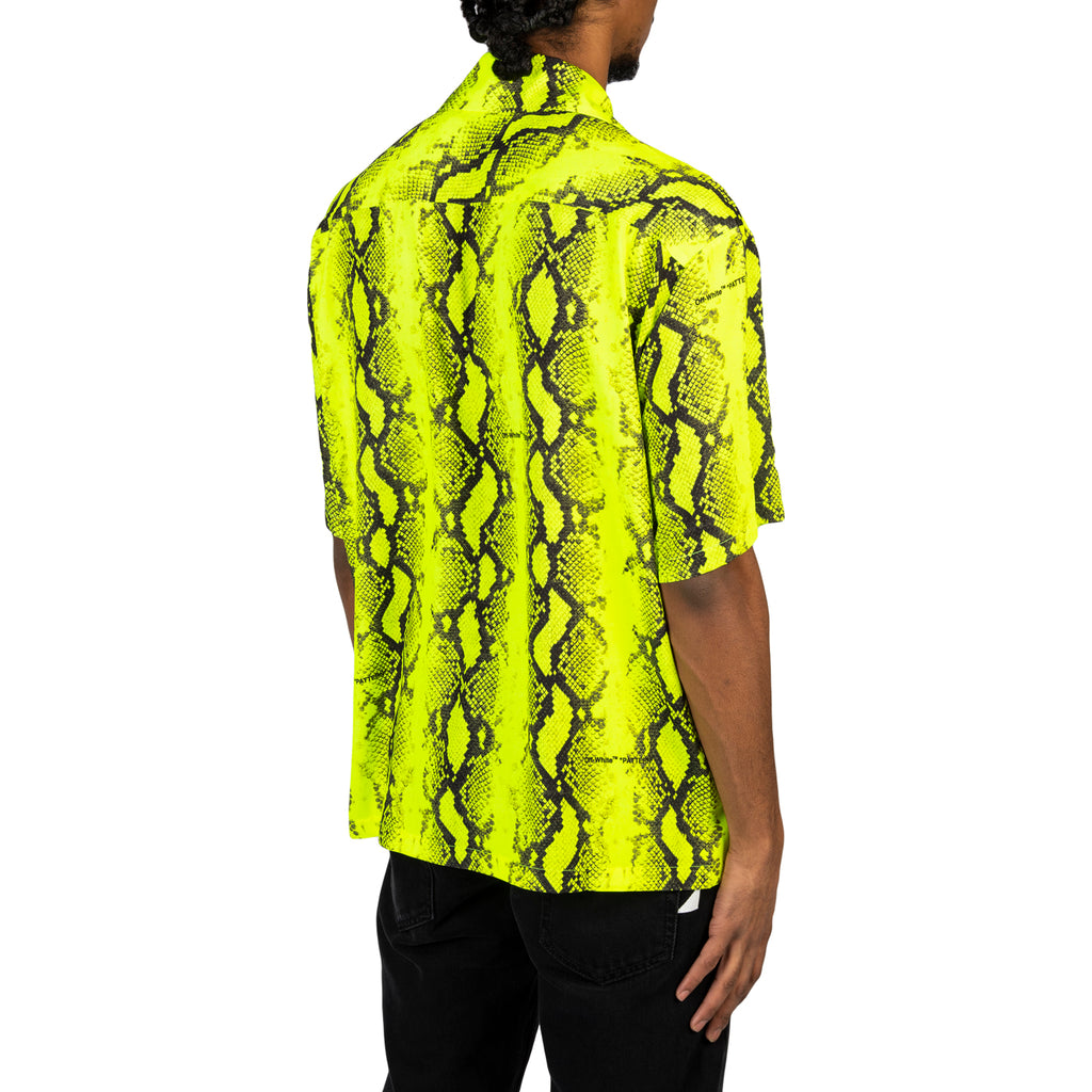 Off-White PS20 Snake Holiday Shirt, Fluo Yellow