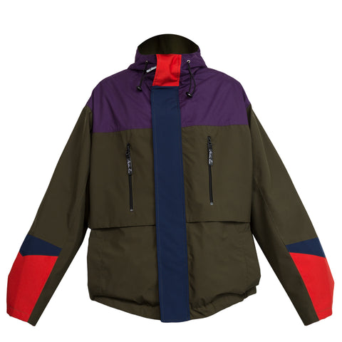 Martine Rose Bomber Raincoat (Green/Red/Purple)
