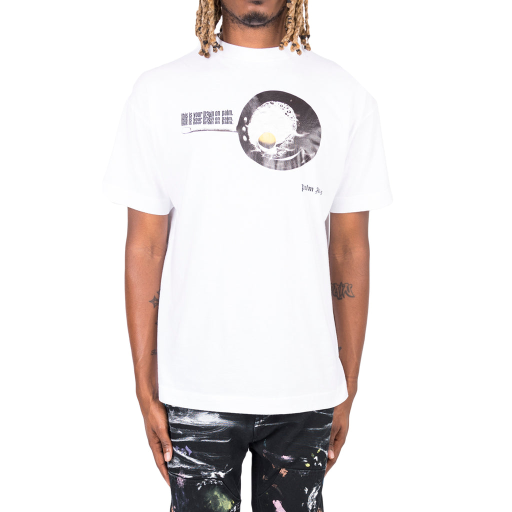 Palm Angels FW19 Egg S/S Tee, White