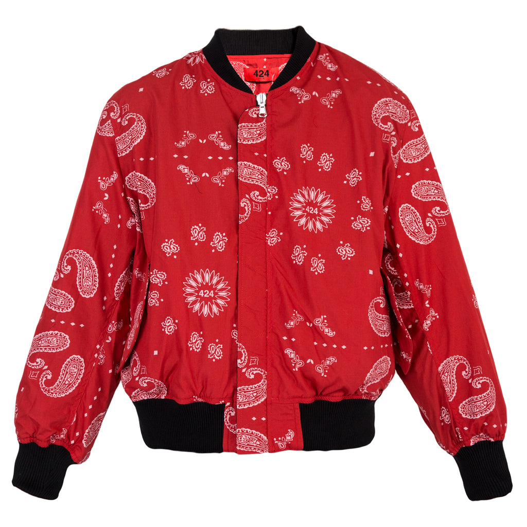 424 REVERSIBLE PAISLEY BOMBER (Black/Red)