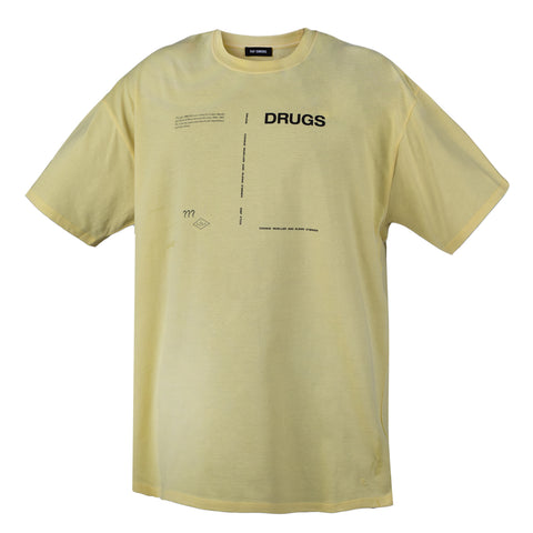 Raf Simons Regular fit T-Shirt Drugs, Yellow