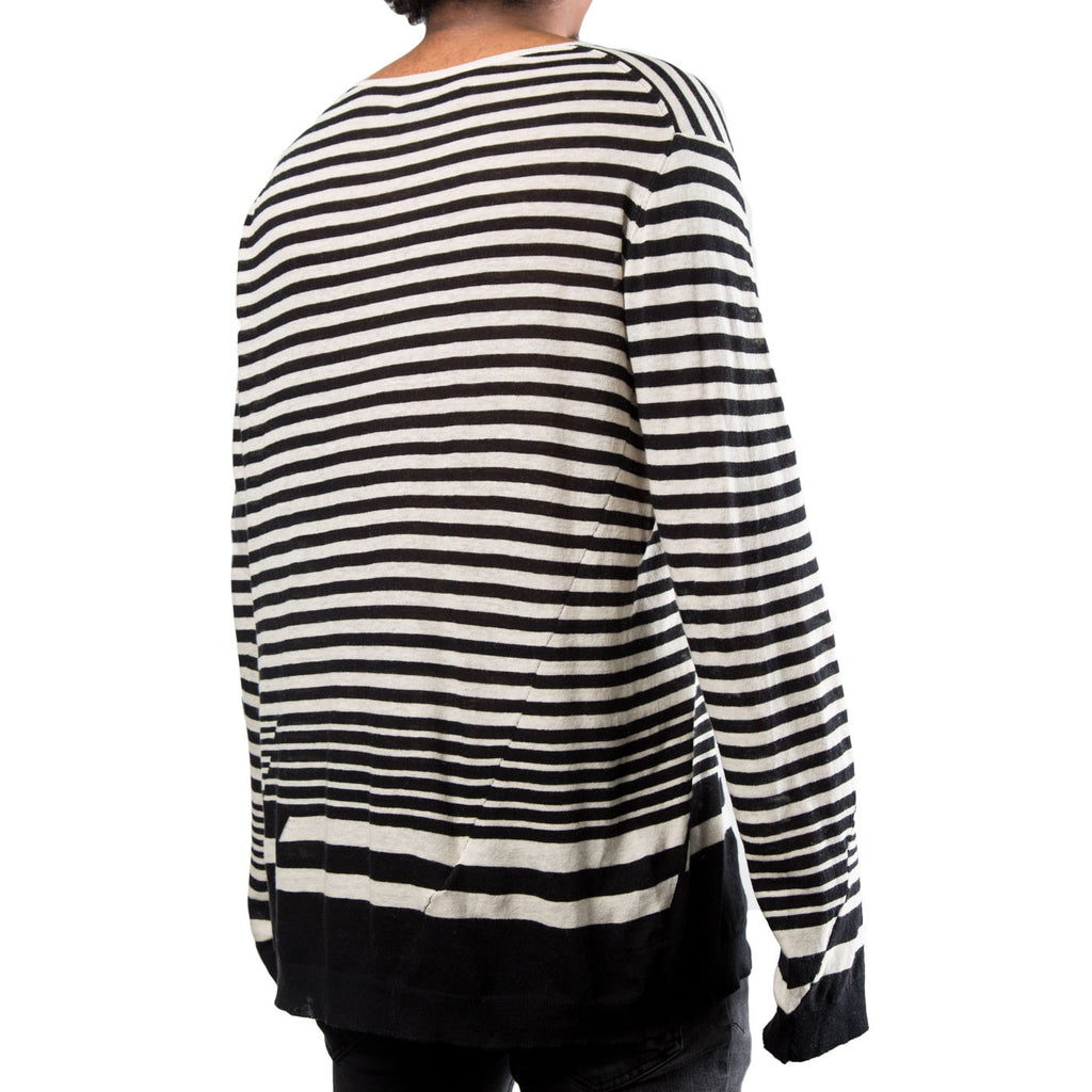 Haider Ackermann Roundneck Striped Jumper (White/Black)