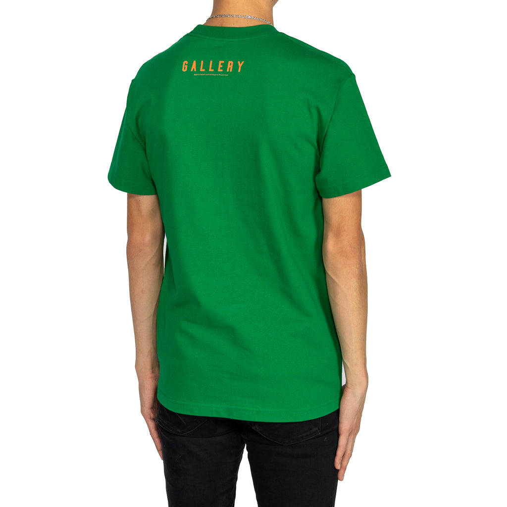 RSVP Gallery Logo Tee Puff Print, Green/White