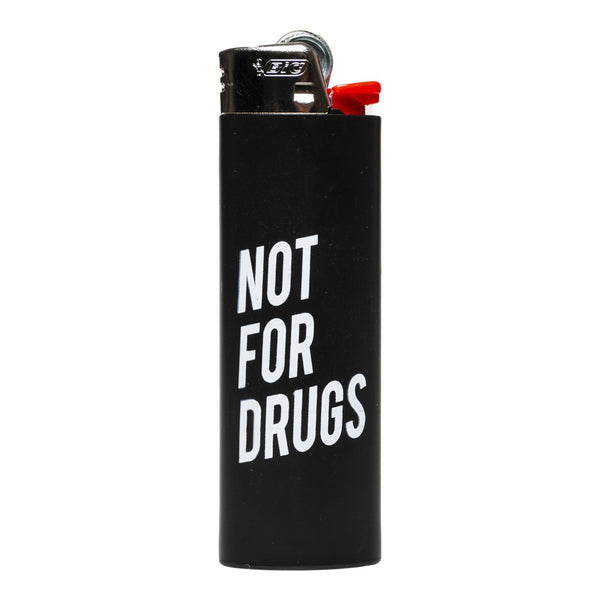RSVP Gallery Not For Drugs Lighter, Black/White