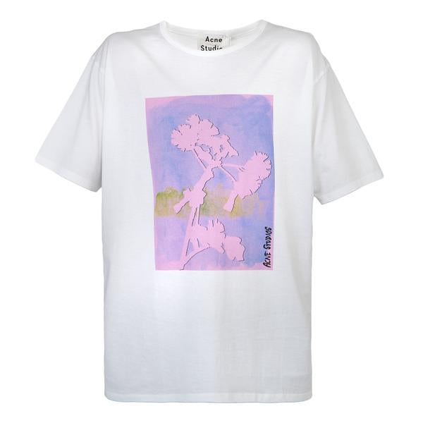Acne Studios Naive Flower Tee PSS18 (Optical White)