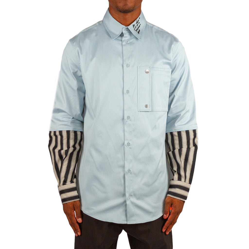 Off-White PF19 Double Shirt, Dusty Blue