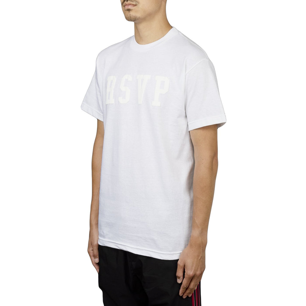 RSVP Gallery Logo Tee Puff Print, White