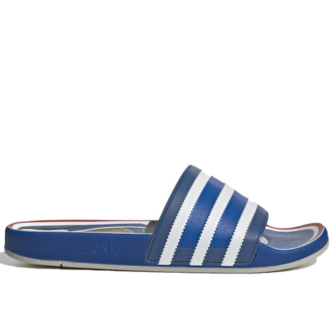 adidas Adilette Premium Slides, Blue/Cloud White