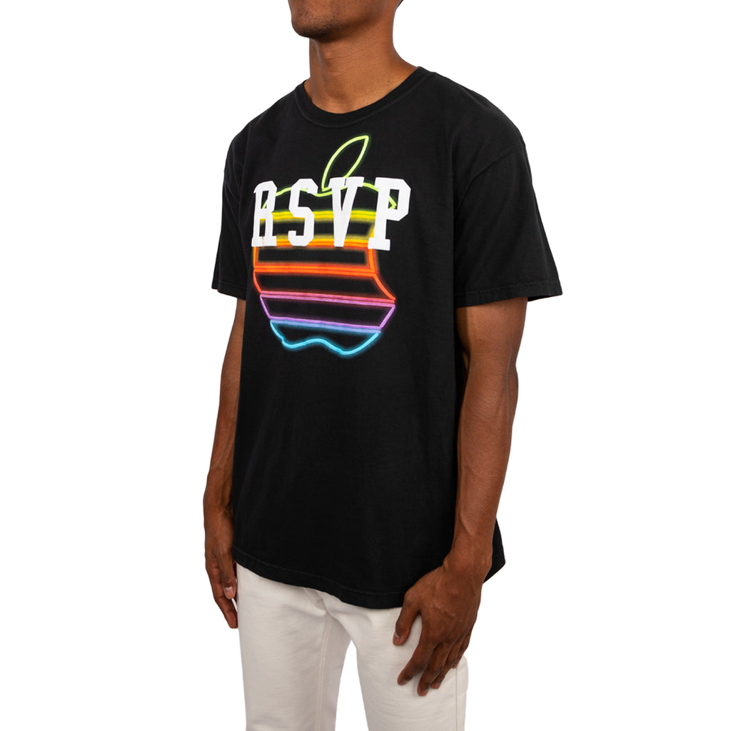 RSVP Gallery Apple Neon Logo Tee, Black