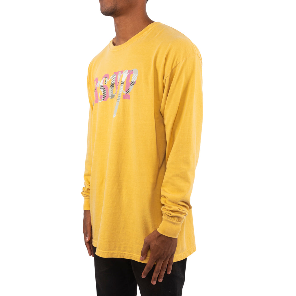 RSVP Gallery Overlay Logo Tee, Yellow/Plaid