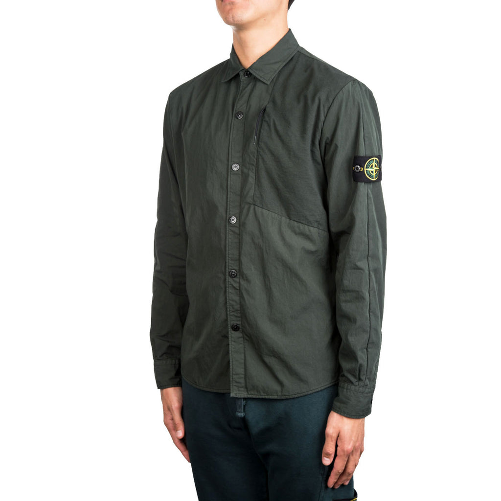 Stone Island Collar Shirt (Forest Green)