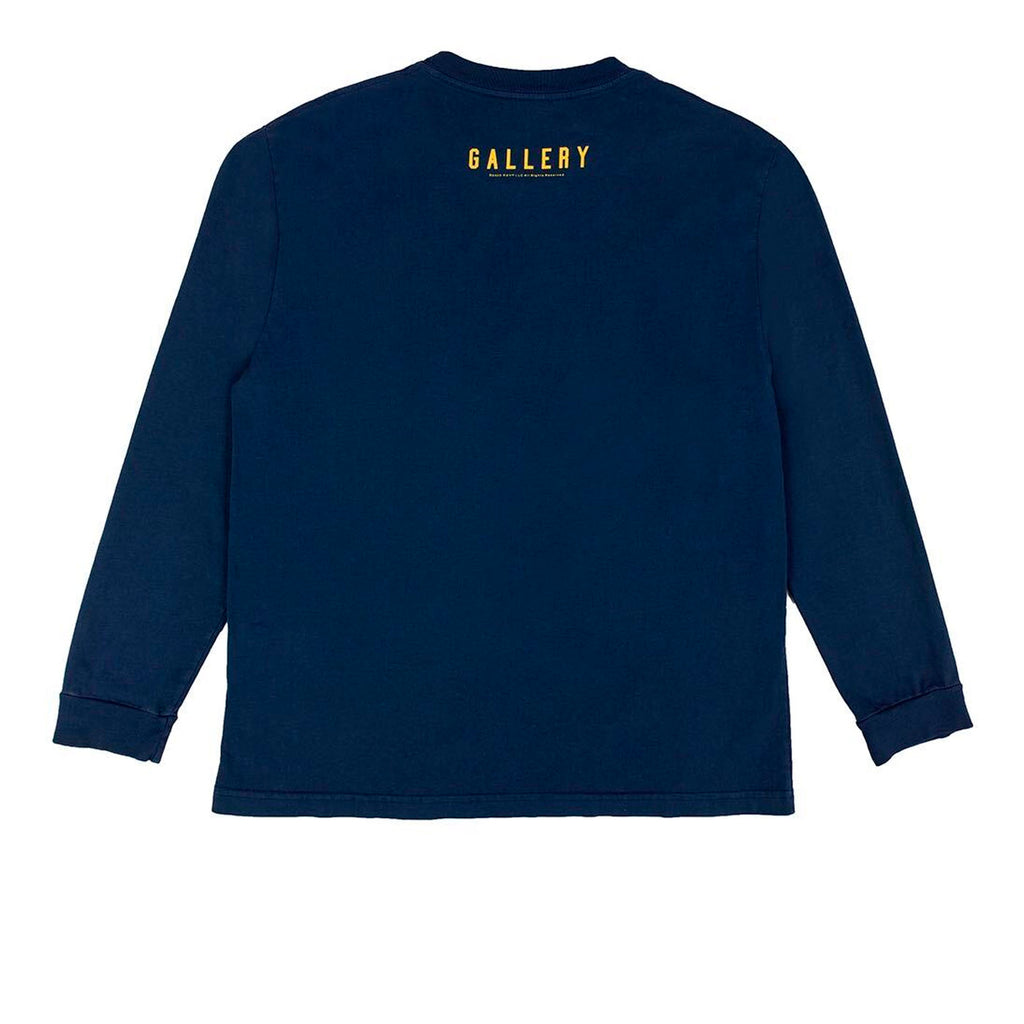 RSVP Gallery L/S Tee, Navy/Maize