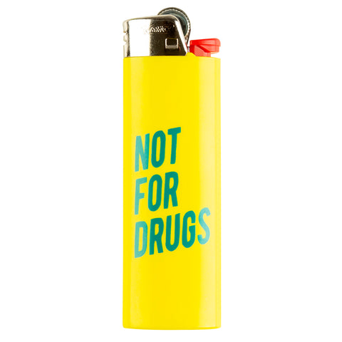 RSVP Gallery Not For Drugs Lighter, Yellow/Green